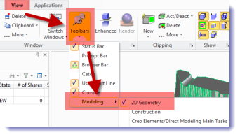 Displaying toolbars with the ribbon UI